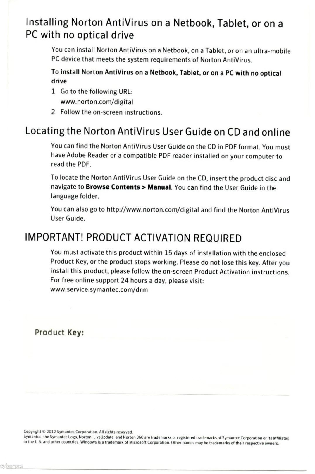 Norton antivirus 2017 no activation key